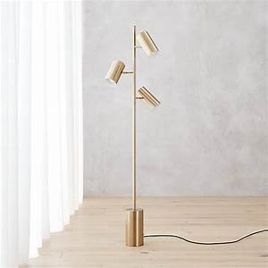 Trio gold floor lamp cb2 for Trio spotlight floor lamp
