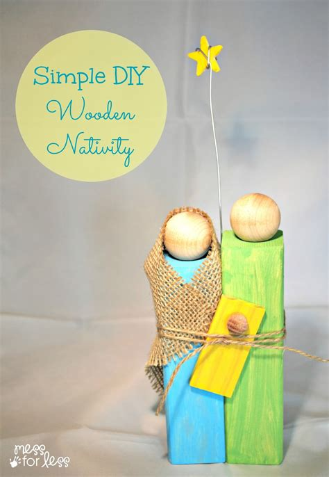 homemade christmas gifts wooden nativity craft mess