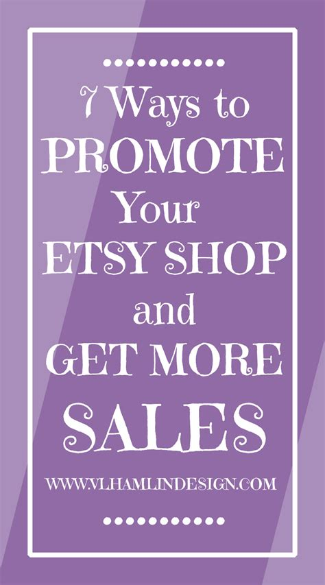 7 Ways To Promote Your Etsy Shop And Get More Sales  Food Life Design