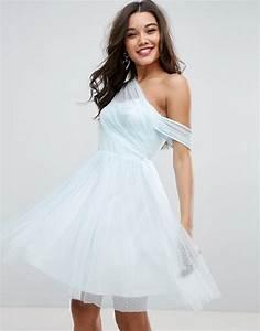 Robe Bal De Promo Courte : asos design asos robe de bal de promo courte et asym trique en tulle plumetis ~ Nature-et-papiers.com Idées de Décoration