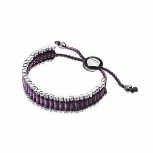 Links Of London Friendship Heart Purple Glitter Bracelet ...