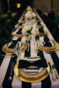 8 idees glamour en or et noir pour decorer votre mariage for Exceptional les couleurs qui se marient 7 8 idees glamour en or et noir pour decorer votre mariage