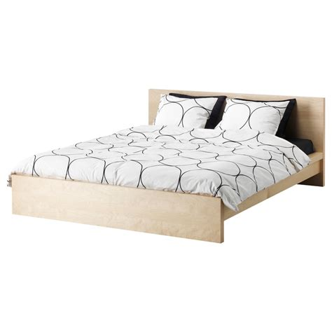 malm bed frame low birch veneer