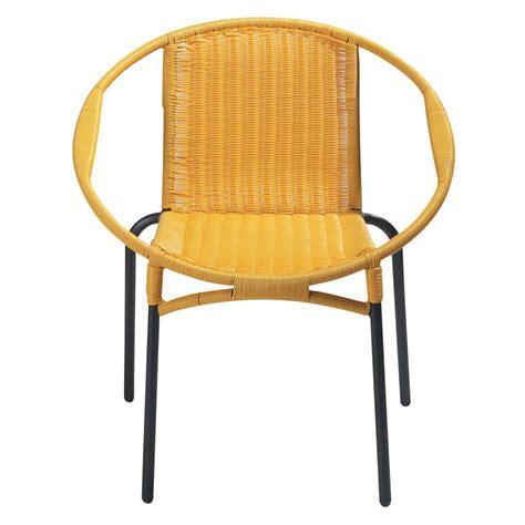 fauteuil de jardin rond jaune rio maisons du monde