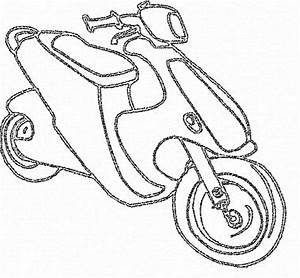 Scooter - Free Coloring Pages
