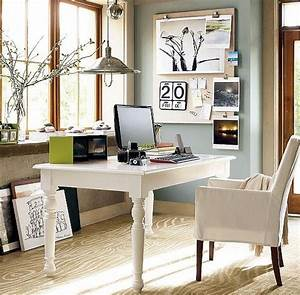 Small Spaces Home Office Design With White White Wooden