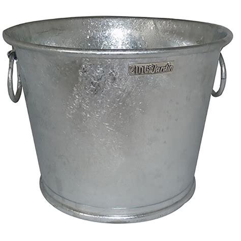 pot en zinc pot en zinc rond 28 litres haut de gamme chez jardin et saisons