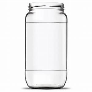 Pot En Verre Pas Cher : gros pot vide en verre de forme cylindrique 1 litre ~ Melissatoandfro.com Idées de Décoration