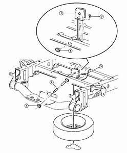 Dodge Ram 1500 Winch  Spare Tire Carrier  Underslung