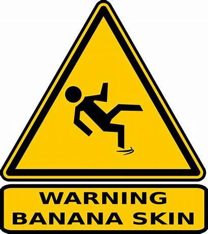 Warning Sign Clip Clipart Banana Signs Cartoon