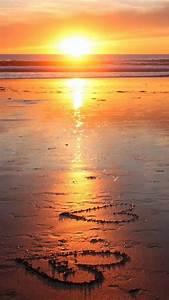Romantic sunset beach Galaxy S6 Wallpaper | Galaxy S6 ...