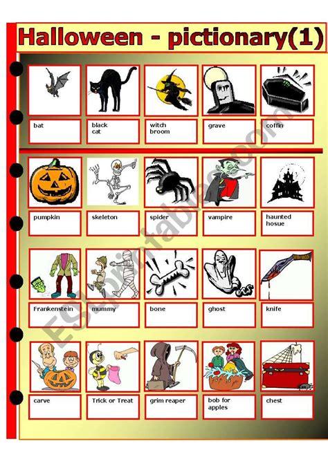 halloween pictionary esl worksheet  thomas