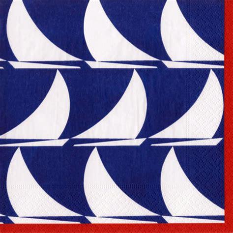 Sailboat Supplies by Sailboat Waves Beverage Napkins Nautical Sailing Theme