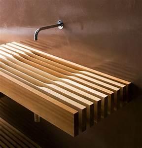 moderne einrichtung mit waschtisch holz für luxus