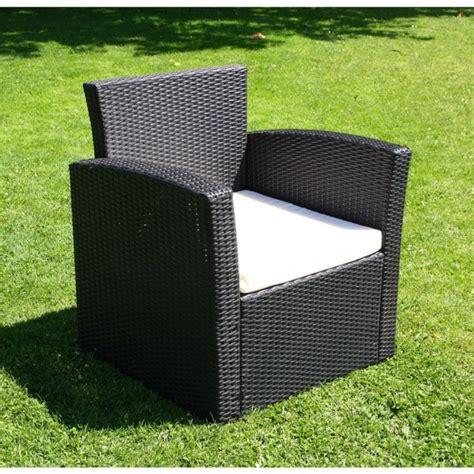 fauteuil salon de jardin resine tressee qaland
