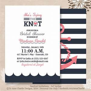 tying the knot nautical bridal shower invitations modern With nautical wedding shower invitations