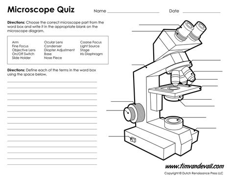 Microscope Diagram Labeled, Unlabeled And Blank  Parts Of A   Basic Skills For Science