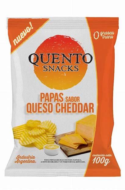 Papas Fritas Cheddar Quento Batatas Snacks
