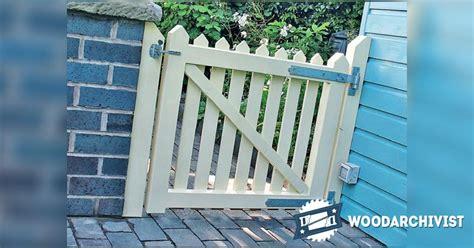 wooden garden gates plans woodarchivist