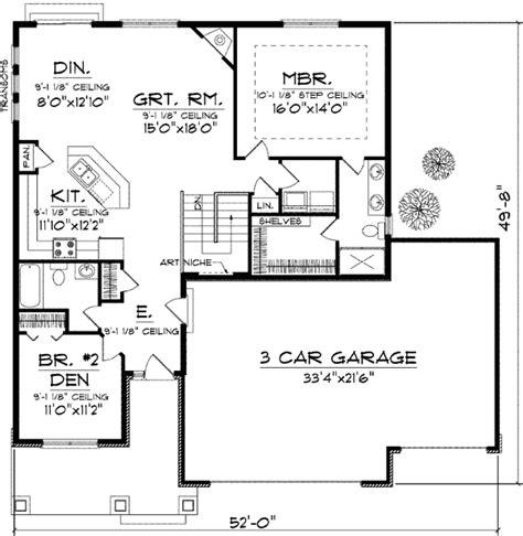 craftsman open floor plans craftsman design with open floor plan 89651ah 1st