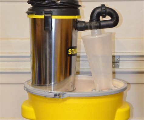 inexpensive   contained portable shop vac dust collector  steps instructables