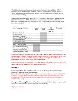celf 5 preschool clinical evaluation of language fundamentals celf 5 9 969