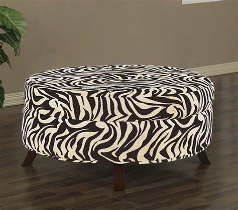 uptown zebra print ottoman contemporary footstools and