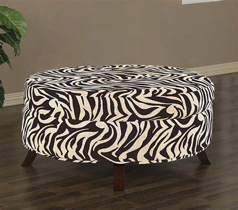 Zebra Storage Ottoman by Uptown Zebra Print Ottoman Contemporary Footstools And