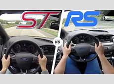 Ford Focus RS vs Focus ST ACCELERATION & TOP SPEED