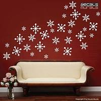 perfect christmas wall decals Wall decals SNOWFLAKES Holidays Christmas Decor Surface