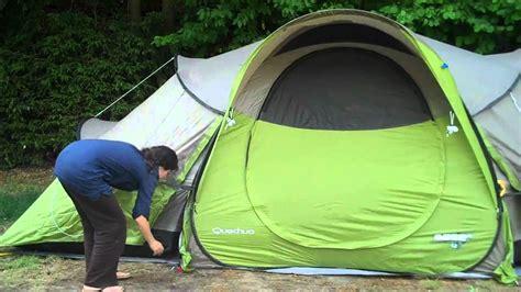 tente 4 places 2 chambres seconds family 4 2 xl quechua seconds base 4 2 opzetten