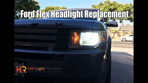 install replace ford flex headlights led