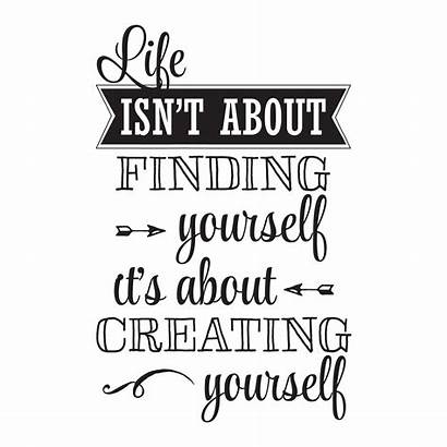Yourself Creating Quotes Wall Isn Decal Finding