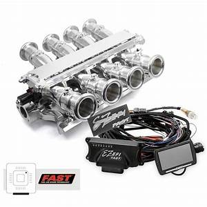 Ford 351w Windsor Sidedraft   Fast Ez-efi 2 0 Fuel Injection System - Polished