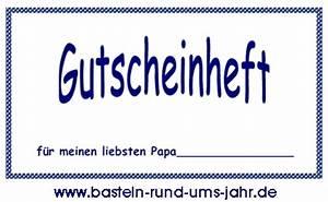 Vatertag Basteln Grundschule : geschenk zum vatertag das gutscheinheft als vorlage basteln rund ums jahr ~ Frokenaadalensverden.com Haus und Dekorationen