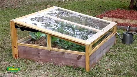 build  raised bed cold frame youtube