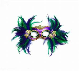 """15"""" X 10"""" MARDI GRAS FEATHER MASK - The Mardi Gras Collections"""