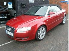 Used Audi A4 20t 2008 Petrol Fsi S Line Convertible Red