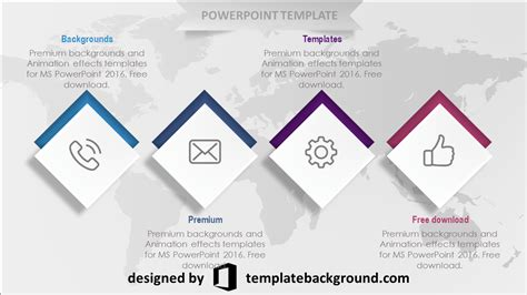 template powerpoint    world  reference