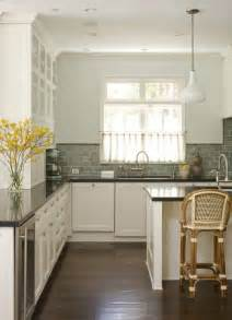 Green Backsplash Kitchen Green Subway Tile Backsplash Cottage Kitchen Studio William Hefner