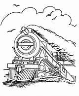 Coloring Train Printable Steam Engine Ecoloringpage Locomotive sketch template