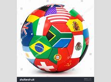 Soccer Ball World Flags Stock Illustration 52228885