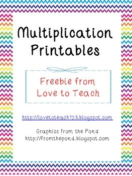 free multiplication worksheets by love to teach tpt