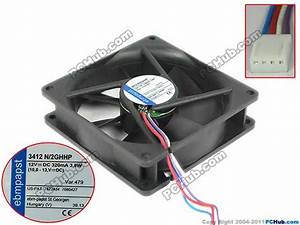 Ebm Papst 3412n  2ghhp Server Cooler Fan Dc 12v 3 8w