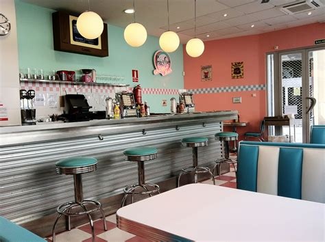 american diner style kitchen accessories 1950s decor 1950 s style american diner in valencia 7433