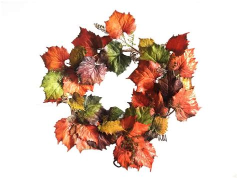 garden decoration leaves realistic leaves garland artificial grape wreath for