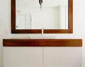 Miroir Salle De Bain Ikea : un meuble de salle de bain unique avec l aide d ikea ~ Teatrodelosmanantiales.com Idées de Décoration