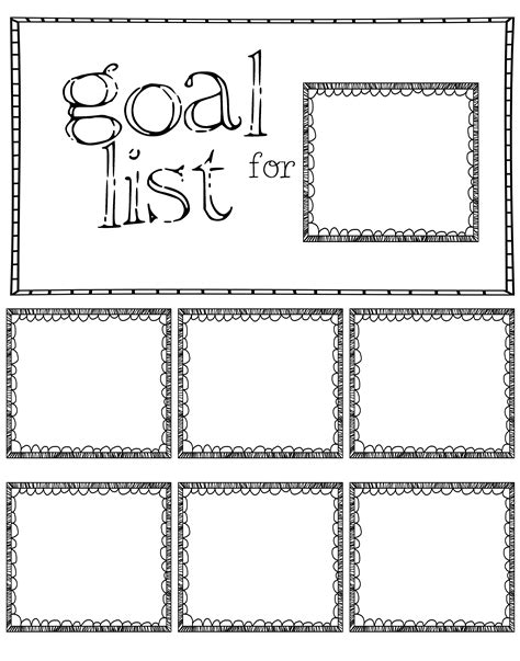 goal list template post it note goal sheet made one 11x14 for the classroom note planners and