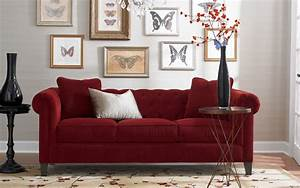 Sofa Und Co : rote couch im wohnzimmer welche wandfarbe und co passen dazu ~ Orissabook.com Haus und Dekorationen