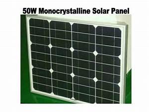 Jual Solar Cell 50w    Panel Surya Listrik Energi Matahari
